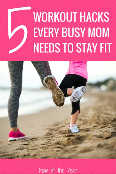 Crazy busy with those kiddos, mom? We understand! Touch down here for five easy workout hacks that will help you boost your fitness while staying sane and keeping up with the crazy. Just because you don't have time, doesn't mean you can't sneak it a workout! Try these genius tricks--I LOVE #3!!