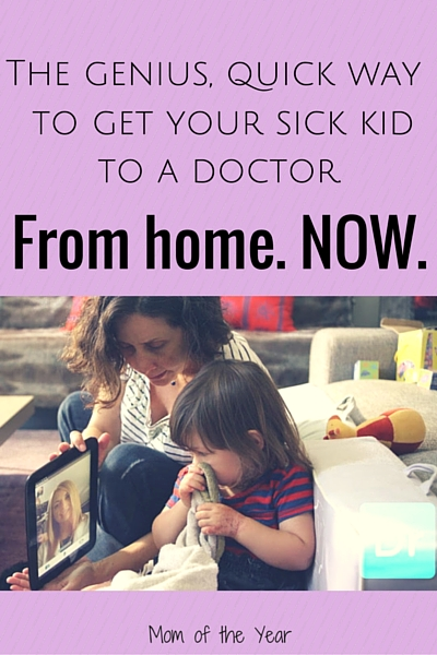 Taking sick kids to the doctor can be such a pain! Not to mention the inconvenience of long wait times and a struggle to get an appointment. Enter Doctor on Demand for a genius, convenient, quick doctor's visit right from the convenience of your own home. And grab this promo code for your first visit--this is incredibly cheap!