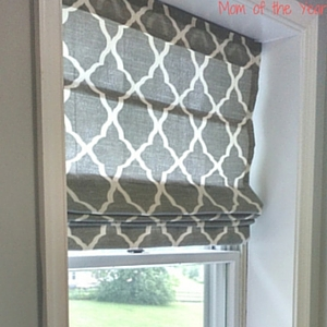 Easy DIY Roman Shades - The Mom of the Year