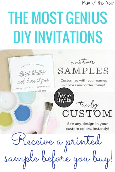Need quick, easy, yet fantastic invitations for your next event? You MUST check out this service. It's the most user-friendly, creative source I've found, and some of these special features are unreal with how helpful and impressive they are. Go make your own custom invitations now--you will be wowed by their innovative ordering process, I promise!