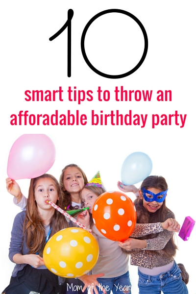 Throwing a birthday party, but don't have a bank to break for it? Check out these ten smart tips for throwing an affordable birthday party. Celebrate your kid's birthday in classy style with all the fun, without all the crazy expense. I love tip #7--would never have thought of this!