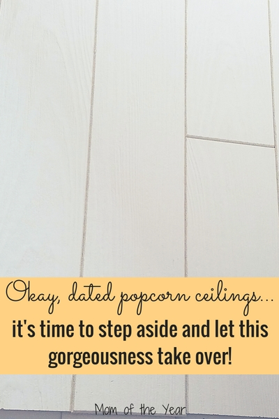 Tired of staring up at your dated popcorn ceilings? Refresh your home and room the easy way with these DIY new ceilings! They are affordable, classy, stylish and easy to install! Check them out and boot those old ceilings to the curb! Check in here for the scoop on where to find the full in-store displays!