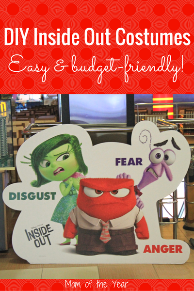 Looking for a fun group costume idea? These DIY Inside Out Halloween Costumes are a total easy win--plus super-cheap and budget friendly! All the easy how-to you need here--plus a few tricks to make this Halloween extra sweet for your gang!