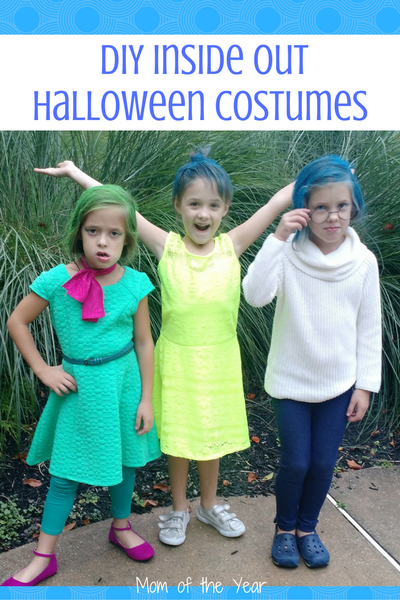 Looking For A Fun Group Costume Idea? These DIY Inside Out Halloween  Costumes Are A