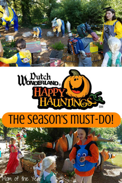 Looking for a fun family fall treat? Dutch Wonderland in Lancaster has it all, or check out a similar amusement in your area--this truly was the perfect fall outing for our young family! The Trick or Treat trail was a total TREAT and we can't wait to go back for more Halloween costume fun next year!