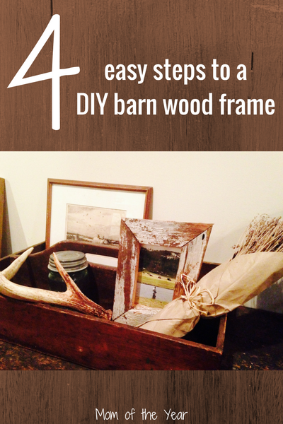 Love the rustic barn wood decor look? Try making this easy DIY barn wood frame project to decorate your home or give as a special homemade gift. You'll love the bonus tips to make it super-easy!