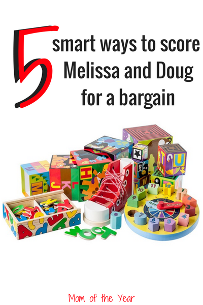 Do your kids love Melissa and Doug toys, but the price tag is a bit intimidating your budget? No sweat Check these 5 smart ways to snag Melissa and Doug on sale. Gift shopping needs? Totally in the bag! Would never have thought of #2!