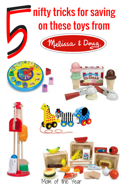 Do your kids love Melissa and Doug toys, but the price tag is a bit intimidating your budget? No sweat! Check these 5 smart ways to snag Melissa and Doug on sale. Gift shopping needs? Totally in the bag! Would never have thought of #2!