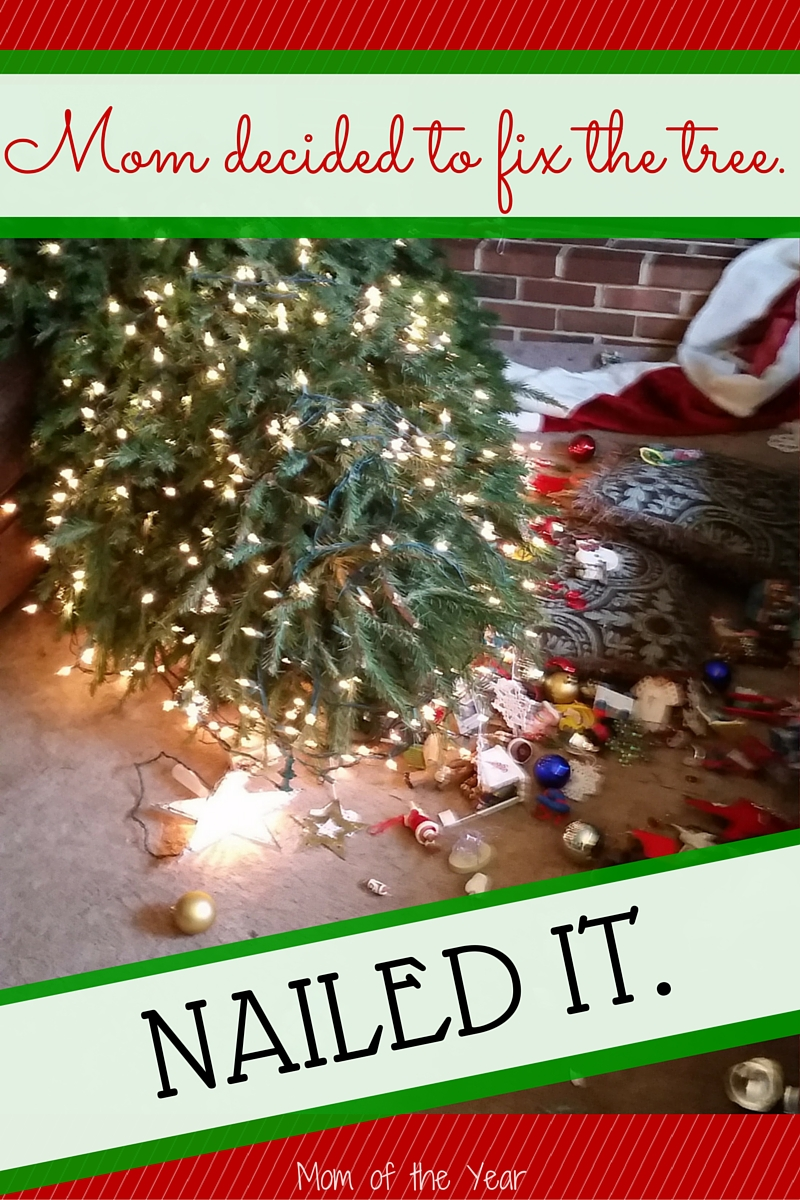 Trying hard this holiday season and flubbing it up a bit? That's the name of the game with parenthood--we keep giving it our all, and then pressing on, even when when we get it wrong. Downed Christmas trees included! Catch the parenting fun here!