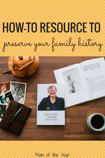 Want to preserve your family history, but feel overwhelmed by the undertaking? Try this smart idea--easy, affordable, meaningful AND the perfect last minute-gift? It's a genius win! Plus, check out this sweet special offer and the holiday gift idea--love it!