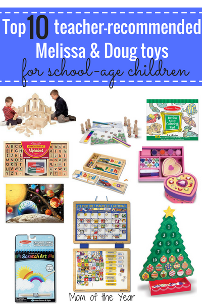 Want to buy your kids gifts that will be fun AND help them grow? This list of top 20 teacher-recommended Melissa and Doug toys are sure to be a win! With gift ideas for both school-age children, toddlers and babies, you can't go wrong! I would never have thought of a few of the birthday party gift ideas!