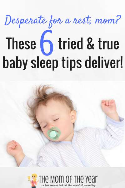 Desperate to help your baby sleep so you can snag some sanity, new moms? No worries! These 6 smart tips directly from a Sleep Consultant will get you and baby going in the right--very restful!--direction in no time! I would never have thought of #5--genius!