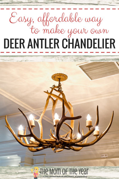 Love the rustic decor look? A DIY Deer Antler Chandelier is the perfect accent piece for your home! Store-bought versions can be PRICEY, but with these 6 easy how-to steps, you can make your own without the hefty price tag--and it's way easier than you think with this hack for getting started!