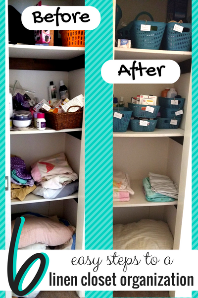 Feel overwhelmed by your messy linen closet and not sure where to start? No worries, with these 6 simple, budget-friendly DIY linen closet organization tips, you'll have your closet neat and tidy in no time! Plus, I LOVE the trick for keeping things permanently sorted, so you won't need to ever tackle this home improvement project again!