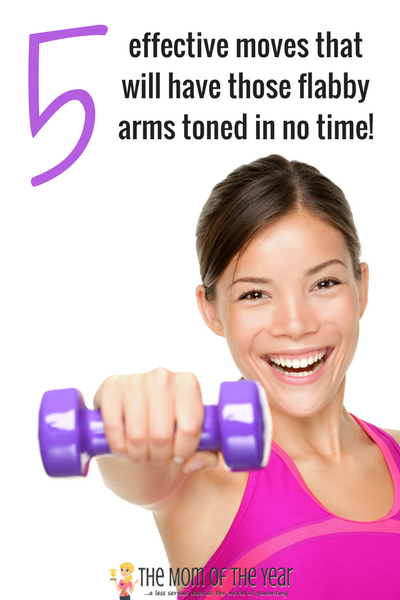 Tired of flabby arms? No worries! These five smart exercise for flabby arms will tone them up in no time! Bonus? This arm workout is easy, effective and can all be done in your living room! Score!