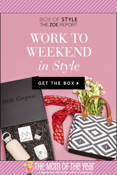 I LOVE this Box of Style! What an easy way to stay in tune with the latest chic fashion finds! Go get your groove on now, mama! And make sure to nab this promo code to save a bundle on this genius!