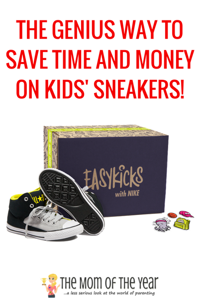 Struggle to keep your kiddo in shoes? No more! EasyKicks is SO EASY! Such a simple way to make sure your children always have a fresh pair of a brand-name sneaker. Check it out--you'll love the cool bonus that comes with them and grab this promo code!