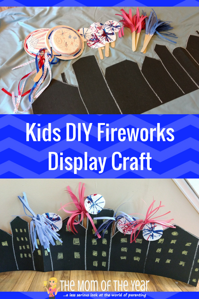 Looking for a fun way to celebrate July 4th with your kids? This DIY Kids Firework Display includes it all--lights, noise and fun! Go celebrate and get your patriotic on!