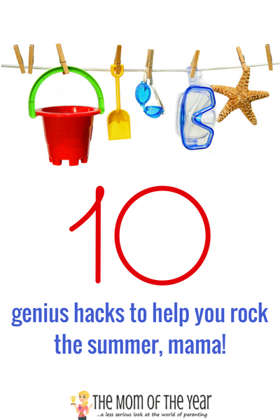 Summertime is full of outdoor fun, but every real mama knows all the activity can get a bit intense too! Check out these 10 real-advice tips, tricks and hacks to survive the summer and keep your sanity in check--score! Summertime kicking back is back in the bag, mom!