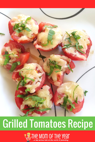 Found! The perfect recipe for grilled tomatoes! Use the fresh crop from your garden and fire up the grill for this perfect family-pleasing side dish! The last touch at the end makes all the difference--love it!