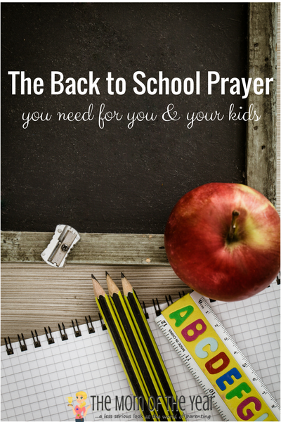 Feeling overwhelmed with the coming school year? You're not alone, mama--you're also in good company with this back to school prayer. Read it, feel caught, then embrace what you can with the real comforting support this provides!
