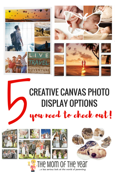 Canvas photo displays are a genius way to showcase your favorite photos in a customized exhibit that is perfect for you and your home! Photo prints shine in these creative ways to display them!