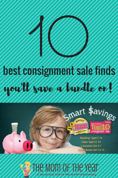 Tight budget? We get it, really! Check out these top 10 smart consignment sale finds that will not only get your budget in order, but your overcharged shopping list under control as well!