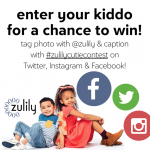 What a cool way to celebrate back to school AND your own unique child! Enter the #zulilycutie search for a chance to win big while a supporting all of what makes us real and unique with a very cool brand!