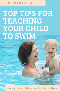 Top tips for teaching your child to swim