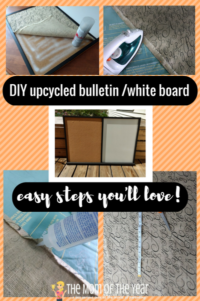 Time to upgrade your command center? Snag this easy DIY for an upcycled bulletin board/white board combo, and you will be crushing on your new organization space! I love this genius!