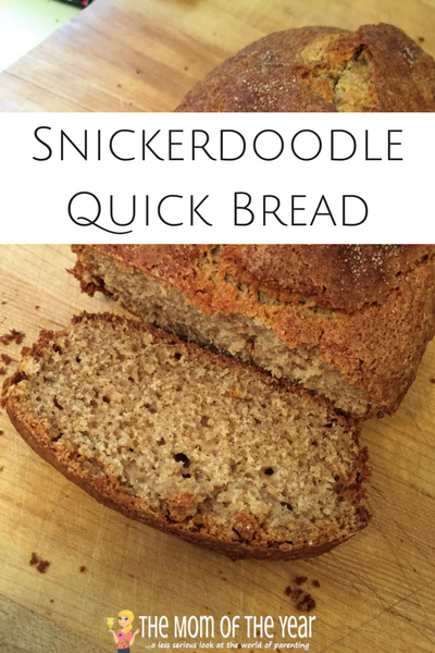 Looking for the perfect last minute holiday gift or need a special breakfast side or afternoon tea snack? No worries! Try this easy=peasy Snickerdoodle Quick Bread and win all the appetites you are feeding! Score!
