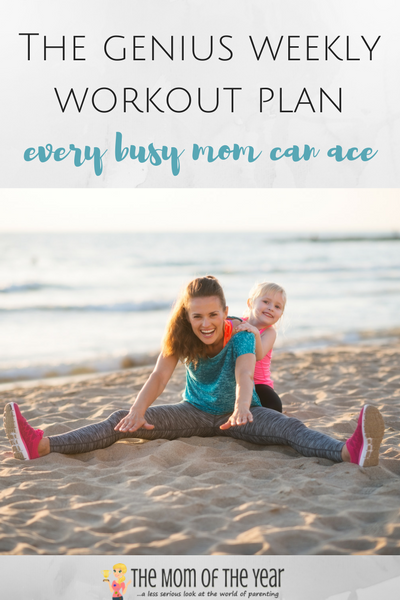 Desperately trying to get in shape? This is the solution you need! This weekly workout schedule for busy moms is designed to help you build lean muscle while shedding fat--check it out and get your exercise on, mama!