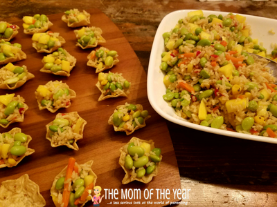 It's time to celebrate the Chinese New Year! You MUST try this kid-friendly, easy, quick, Chinese New Year appetizer recipe full of veggies and fresh mango--a delicious treat for your appetite and your family-friendly celebration! These veggie rice tortilla bites are amazing--check out the adaptations too and make them perfect for YOUR family!