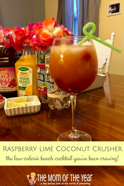 Dreaming of kick-back beach days? Bring the vacation to you with this INCREDIBLE cocktail recipe for a Raspberry Lime Coconut Crusher! It's dreamy, drool-worthy and the perfect summer escape you need--all in one delicious drink that will whisk you away, mama!