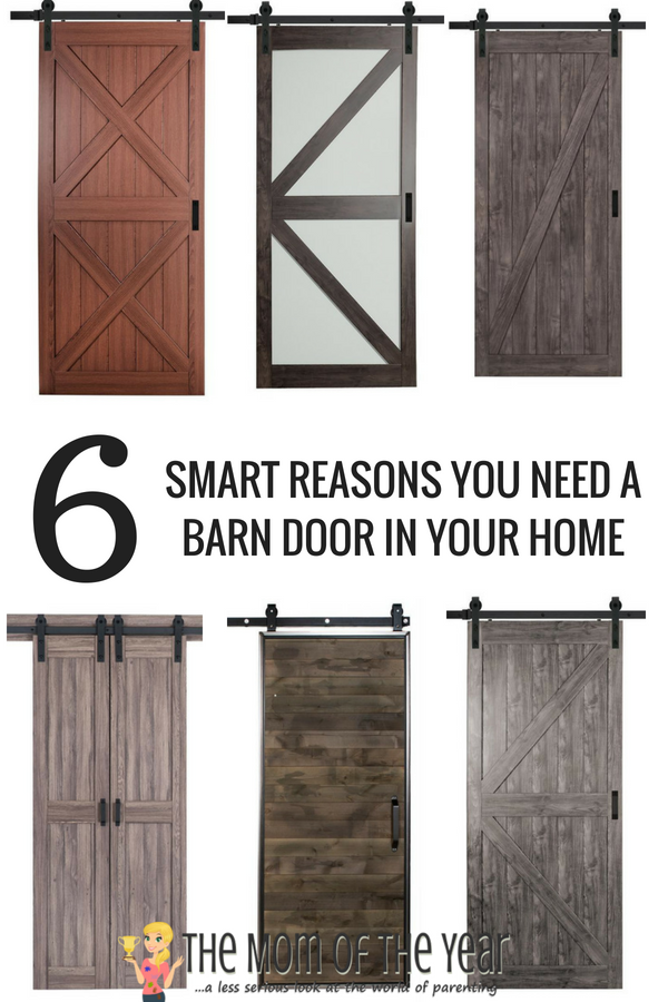 There are so many super reasons a Barn Door is the perfect fit for a space in your home! #3 never even occurred to me until AFTER we installed our rustic barn door. Check them all out, get inspired and get ready to add a little rustic home decor of your own!