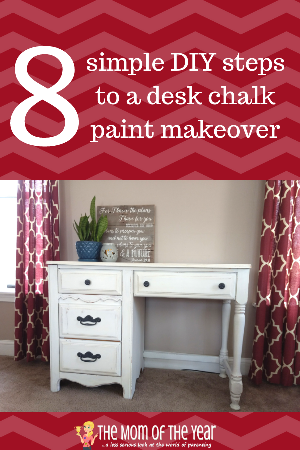 Want to try a chalk paint makeover, but not sure where to start? Follow these simple, easy steps, and you'll find this DIY project is super do-able--soon you will be rehabbing all the furniture in your house for that farmhouse decor, not just this desk makeover!
