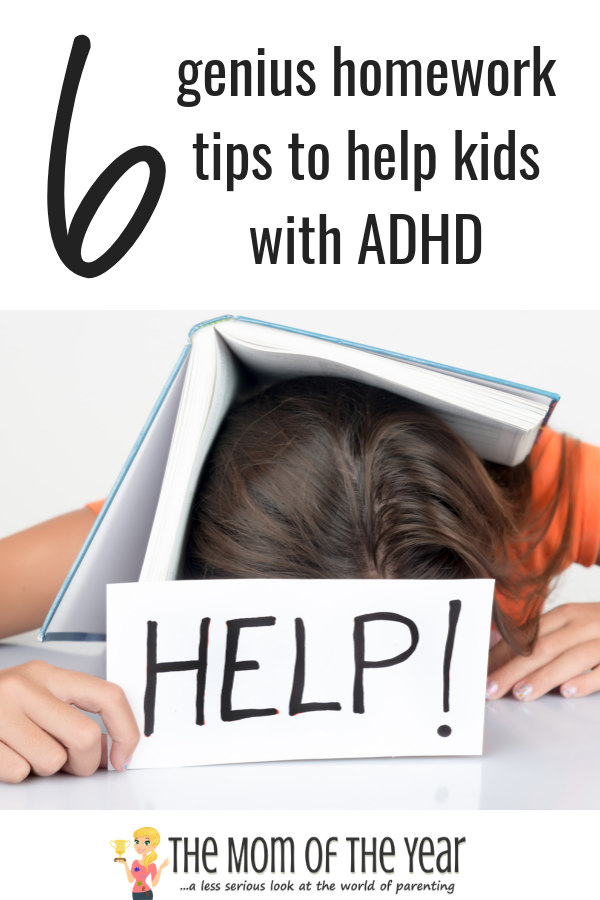 Have a kiddo with ADHD? Homework help can be a tricky beast, but use these wicked smart 6 tips to get you and your child on track in no time--I love #4! Would never have thought of this!