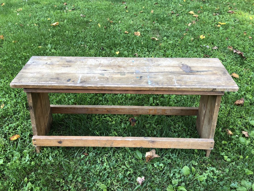Want to preserve an old piece of furnture? Following this simple and smart DIY how-to to stain and seal wood so it will last! These steps are so clear, and I would never have know the trick to the poly coat!
