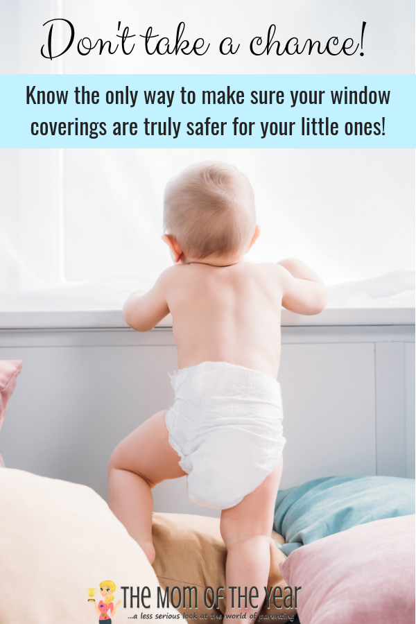 sponsored-Safer window coverings are crucial! Window covering cord safety matters so much, October is set aside to raise awareness as National Window Covering Safety Month. Cords pose a serious strangulation hazard to infants and young children. Read on here and learn the one, only truly reliable way to make sure your window coverings are safer for your little ones!