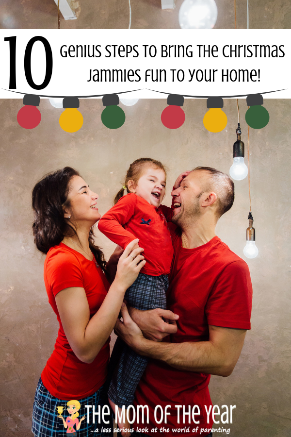 Matching family Christmas jammies new to your family? No worries here are 10 fail-proof steps to getting ALL the members of your family on board, including your possibly less-enthusiastic husband ;) #8 cracks me up! #Christmaspajamas #matchingfamilypajamas