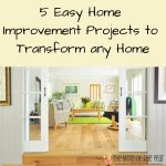 Looking to update your home, but don't have a huge budget of time or money? These 5 easy home improvement projects can make such a stunning difference!