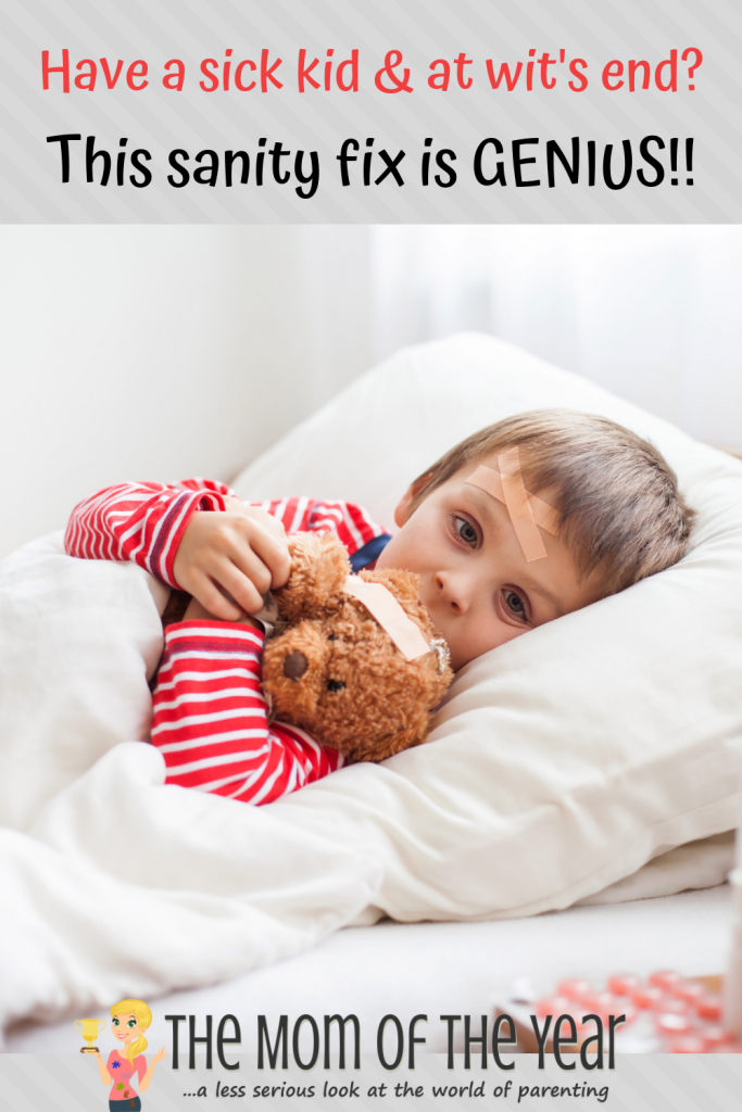 Struggling to keep a hold of it all AND family sickness to boot? Check this GENIUS sick kid hack and never look back, mama--it's fantastic and I love it!