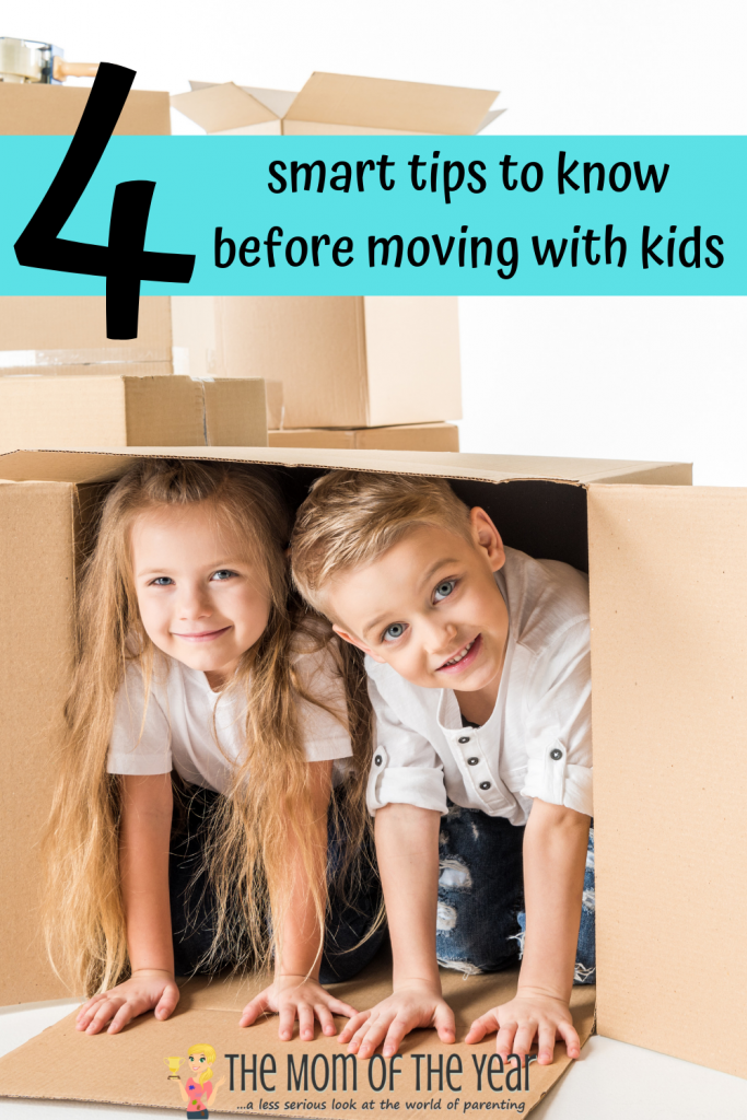 Moving with kids is no joke! Grab these 4 smart tips to make the process go as smoothly as possible! I would never have considered #3! You CAN do this, mama! Go get 'em, mama!