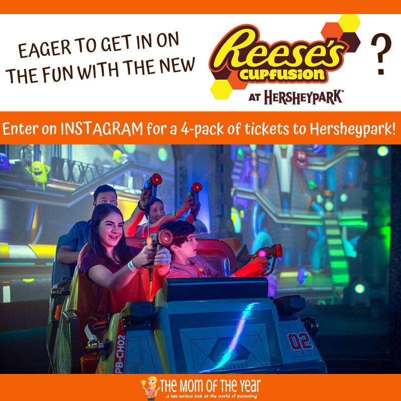 Summertime at Hersheypark is here, along with the sweet new Reese's Cupfusion interactive gaming ride! Pop over here to get the whole scoop on the ride and enter to WIN the giveway of 4-pack of Hersheypark tickets to use in the 2019 season! Bring on the sunshine and fun!