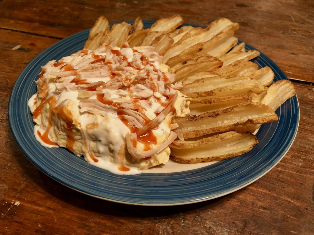 Crowd-Pleasing Loaded Buffalo Chicken Dip