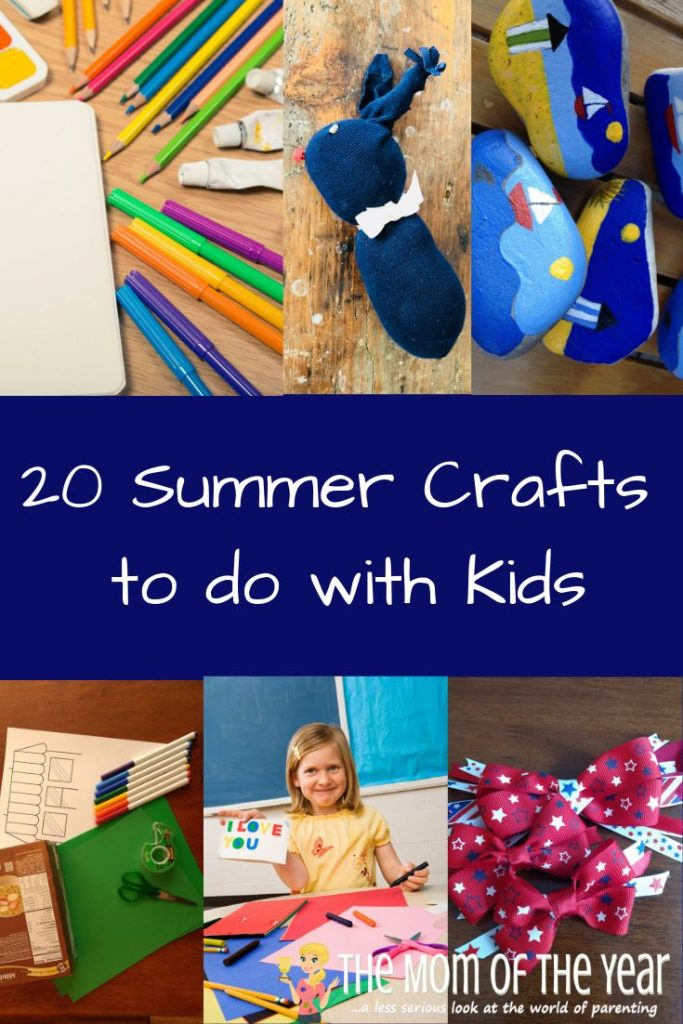 Summer is here! Check out these 20 summer craft ideas kids will love and keep your crew entertained and busy while school is out!