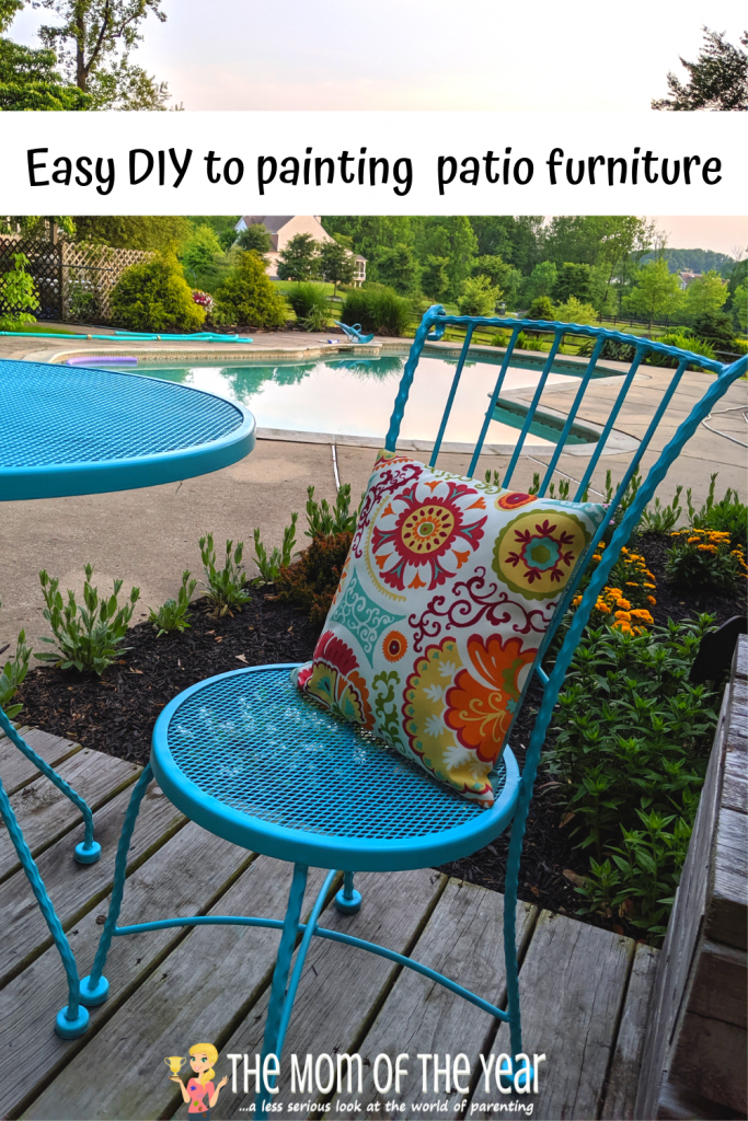 Painting Metal Patio Furniture How To The Mom Of The Year