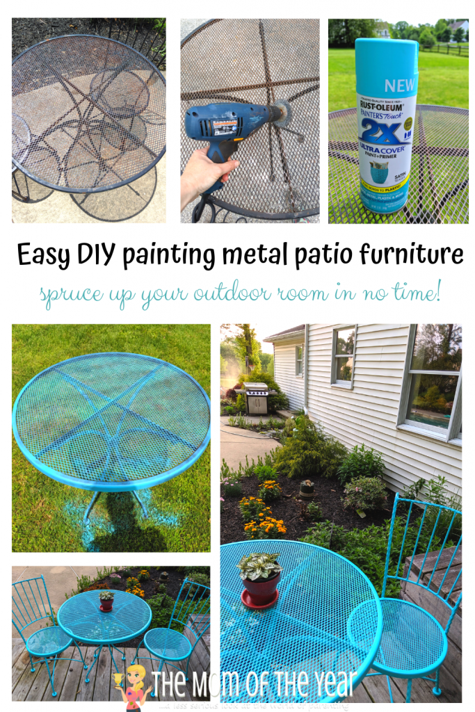 Looking to spruce up your outdoor space? Painting metal patio furniture is an easy outdoor project with a powerful punch that will make a huge difference! I LOVE the smart hack in the 3rd step! Get ready to bring on the outdoor living :)