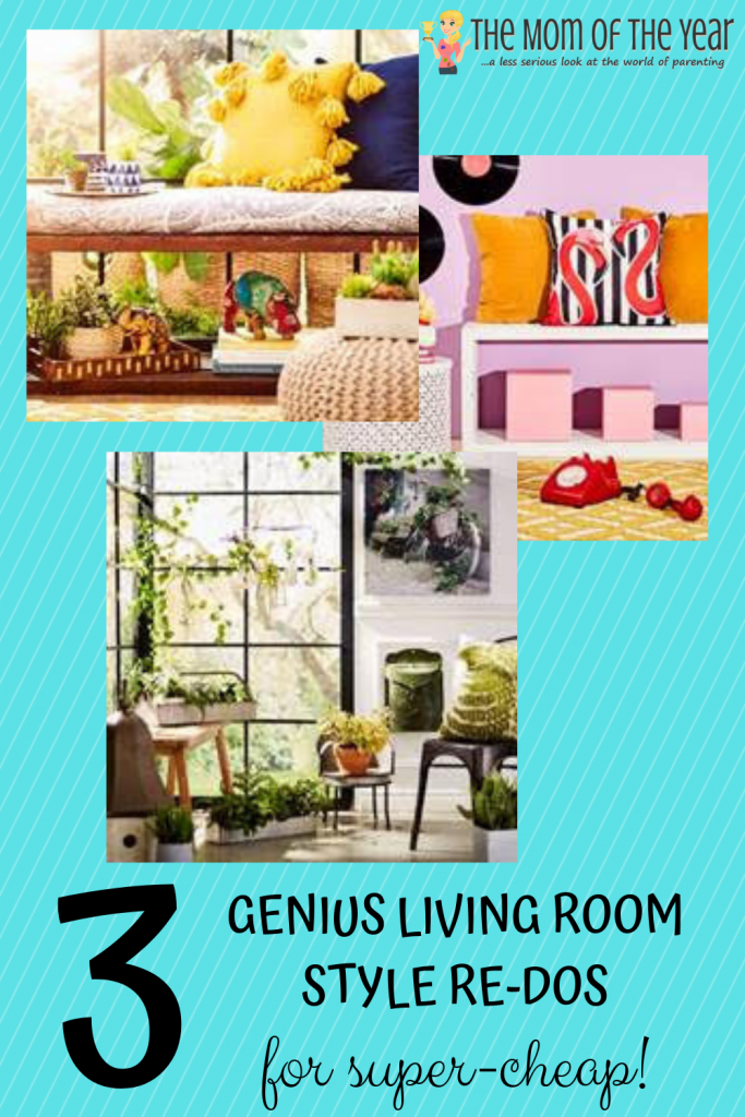 Crushing on a re-do of your living room style? Check these 3 smart, budget-friendly ideas--I LOVE the last one!!