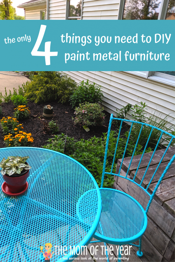 This project is simple, cheap, and fun because you get to use power tools and spray paint! If you are looking to freshen up your outdoor space to make the most of outdoor living, try this quick, one day project of painting metal patio furniture! Here's how to do it...